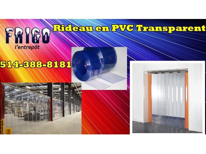 RIDEAU EN PVC POUR VOTRE CHAMBRE FROIDE / CONGÉLATEUR